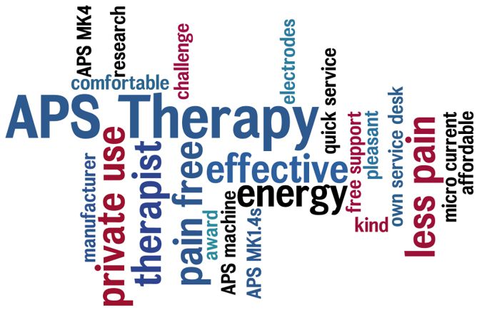 APS Therapy - private use - pain free - energy - less pain - pain relief