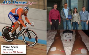 Peter Schep is treated with APS Therapy during his professional cycling career.